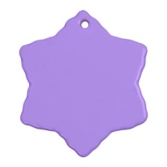 Pastel Color   Pale Blue Violet Snowflake Ornament (two Sides) by tarastyle