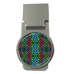 Glittering Kaleidoscope Mosaic Pattern Money Clips (round)