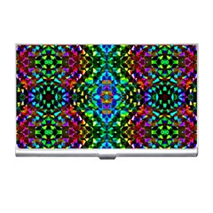 Glittering Kaleidoscope Mosaic Pattern Business Card Holders