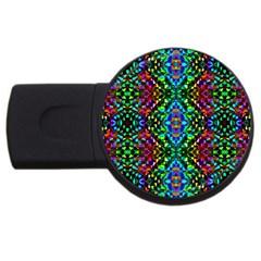 Glittering Kaleidoscope Mosaic Pattern Usb Flash Drive Round (2 Gb) by Costasonlineshop