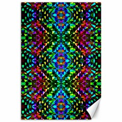 Glittering Kaleidoscope Mosaic Pattern Canvas 12  X 18   by Costasonlineshop