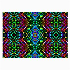 Glittering Kaleidoscope Mosaic Pattern Large Glasses Cloth (2 Side) by Costasonlineshop