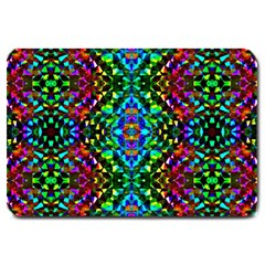 Glittering Kaleidoscope Mosaic Pattern Large Doormat  by Costasonlineshop