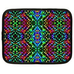 Glittering Kaleidoscope Mosaic Pattern Netbook Case (xxl)  by Costasonlineshop