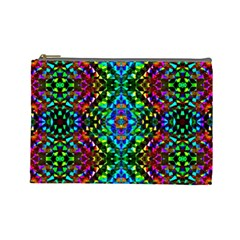 Glittering Kaleidoscope Mosaic Pattern Cosmetic Bag (large)