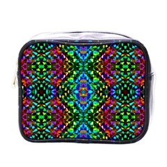 Glittering Kaleidoscope Mosaic Pattern Mini Toiletries Bags