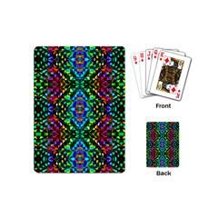 Glittering Kaleidoscope Mosaic Pattern Playing Cards (mini)  by Costasonlineshop