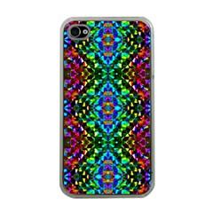 Glittering Kaleidoscope Mosaic Pattern Apple Iphone 4 Case (clear) by Costasonlineshop