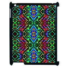 Glittering Kaleidoscope Mosaic Pattern Apple Ipad 2 Case (black) by Costasonlineshop