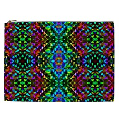 Glittering Kaleidoscope Mosaic Pattern Cosmetic Bag (xxl)  by Costasonlineshop