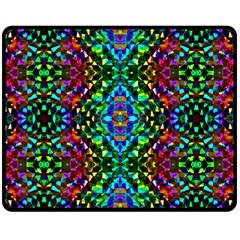 Glittering Kaleidoscope Mosaic Pattern Double Sided Fleece Blanket (medium)  by Costasonlineshop
