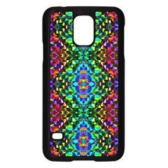 Glittering Kaleidoscope Mosaic Pattern Samsung Galaxy S5 Case (black) by Costasonlineshop