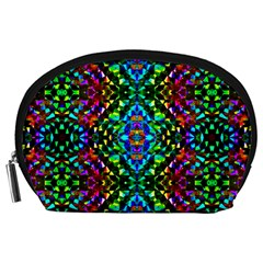 Glittering Kaleidoscope Mosaic Pattern Accessory Pouches (large)
