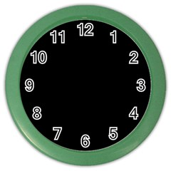 Black Gothic Color Wall Clocks