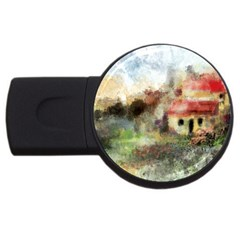 Old Spanish Village Usb Flash Drive Round (2 Gb) by theunrulyartist
