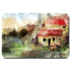 Old Spanish Village Large Doormat  by theunrulyartist