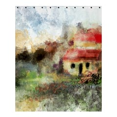 Old Spanish Village Shower Curtain 60  X 72  (medium)  by theunrulyartist