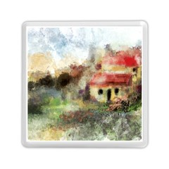 Old Spanish Village Memory Card Reader (square)  by theunrulyartist
