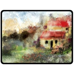 Old Spanish Village Double Sided Fleece Blanket (large)  by theunrulyartist