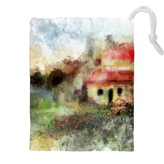 Old Spanish Village Drawstring Pouches (xxl) by theunrulyartist
