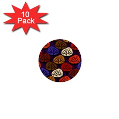 Colorful Trees Background Pattern 1  Mini Buttons (10 pack)