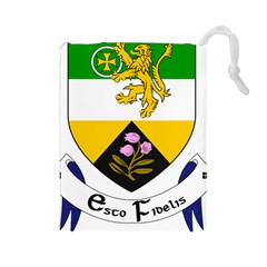 County Offaly Coat Of Arms  Drawstring Pouches (large)
