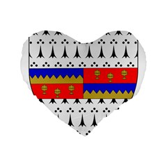 County Tipperary Coat Of Arms  Standard 16  Premium Flano Heart Shape Cushions