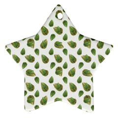 Leaves Motif Nature Pattern Ornament (star) by dflcprints