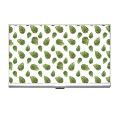 Leaves Motif Nature Pattern Business Card Holders by dflcprints