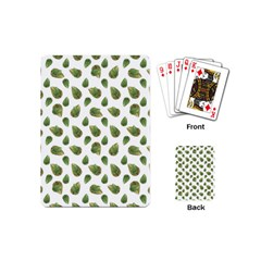 Leaves Motif Nature Pattern Playing Cards (mini)  by dflcprints