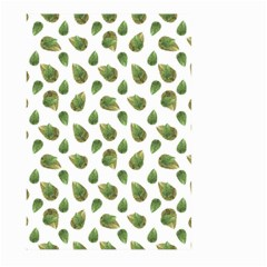 Leaves Motif Nature Pattern Large Garden Flag (two Sides) by dflcprints