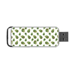 Leaves Motif Nature Pattern Portable Usb Flash (one Side) by dflcprints