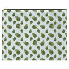 Leaves Motif Nature Pattern Cosmetic Bag (xxxl)  by dflcprints