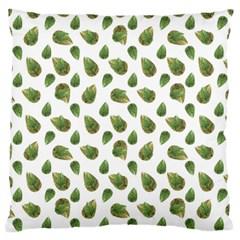 Leaves Motif Nature Pattern Standard Flano Cushion Case (one Side) by dflcprints