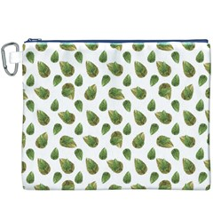 Leaves Motif Nature Pattern Canvas Cosmetic Bag (xxxl) by dflcprints