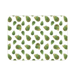 Leaves Motif Nature Pattern Double Sided Flano Blanket (mini)  by dflcprints
