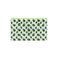 Leaves Motif Nature Pattern Cosmetic Bag (xs) by dflcprints