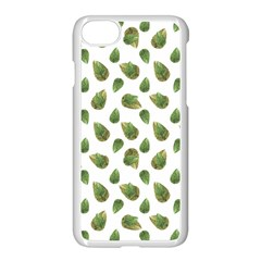 Leaves Motif Nature Pattern Apple Iphone 7 Seamless Case (white) by dflcprints