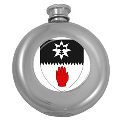 County Tyrone Coat Of Arms  Round Hip Flask (5 Oz) by abbeyz71