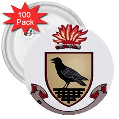 County Dublin Coat Of Arms  3  Buttons (100 Pack)