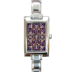 Tribal Ornate Pattern Rectangle Italian Charm Watch by dflcprints