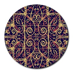 Tribal Ornate Pattern Round Mousepads by dflcprints