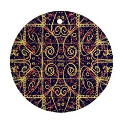 Tribal Ornate Pattern Ornament (round) by dflcprints