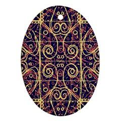 Tribal Ornate Pattern Ornament (oval) by dflcprints