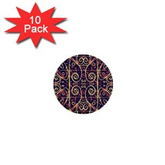 Tribal Ornate Pattern 1  Mini Buttons (10 Pack)  by dflcprints