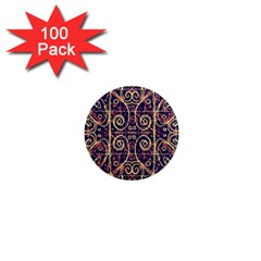 Tribal Ornate Pattern 1  Mini Magnets (100 Pack)  by dflcprints