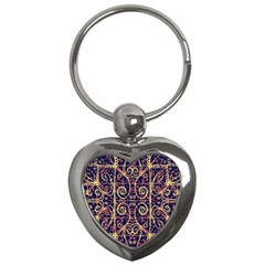 Tribal Ornate Pattern Key Chains (heart)  by dflcprints