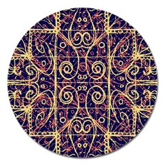 Tribal Ornate Pattern Magnet 5  (round) by dflcprints