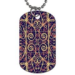 Tribal Ornate Pattern Dog Tag (One Side)