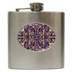 Tribal Ornate Pattern Hip Flask (6 oz)